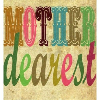 'Mother Dearest' written in vintage script, by Caroline Gardner.  Priced at £2.15 with Orchardcards.co.uk