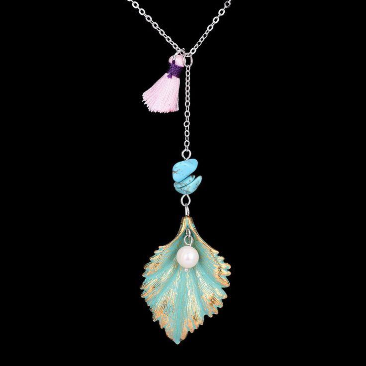 Beads Stone Feather Elephant Tassel Pendant Necklaces Opal Lapis Lazuli Natural Stone Pendant Necklaces Summer Jewelry #Affiliate