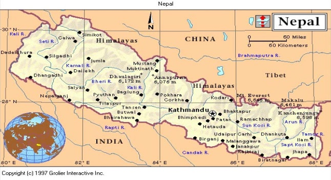 7 best nepal images on pinterest nepal china and animales nepal political map gumiabroncs Gallery