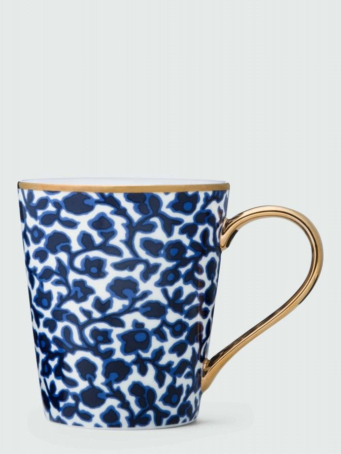Printed in a summery navy vine motif and finished with pretty gold trim, these mugs somehow make tea taste even better (they do!). Mugs sold as a set of 2 of the same color.