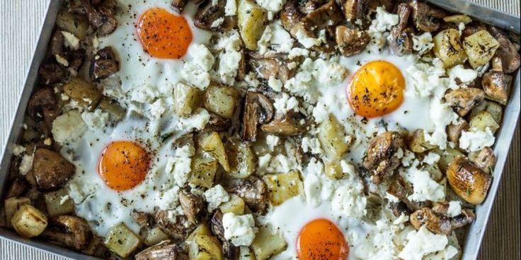 Πατάτες με αυγά στο φούρνο