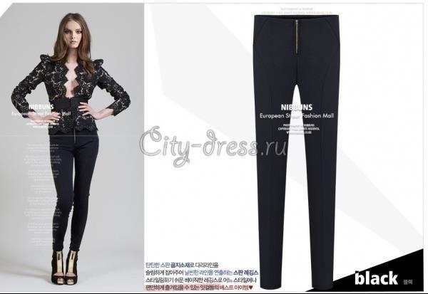 Облегающие черные штаны