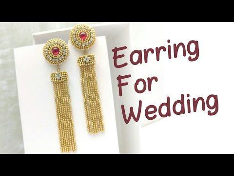 Tassel Ball Chain Earrings | Earrings For Womens | Tassel Earrings Using Silk Thread - YouTube