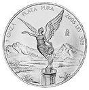 Stříbrná mince Bohyně vítězství. Mince je ražena od roku 1982 mexickou bankou Banco de Mexico a je zákonem uznávaným mexickým platidlem. Obsahuje 999/1000 stříbra. Cena: 805 Kč.