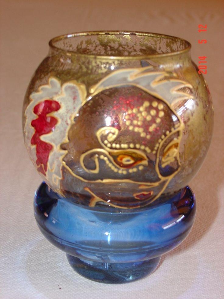 Murano double candle holder