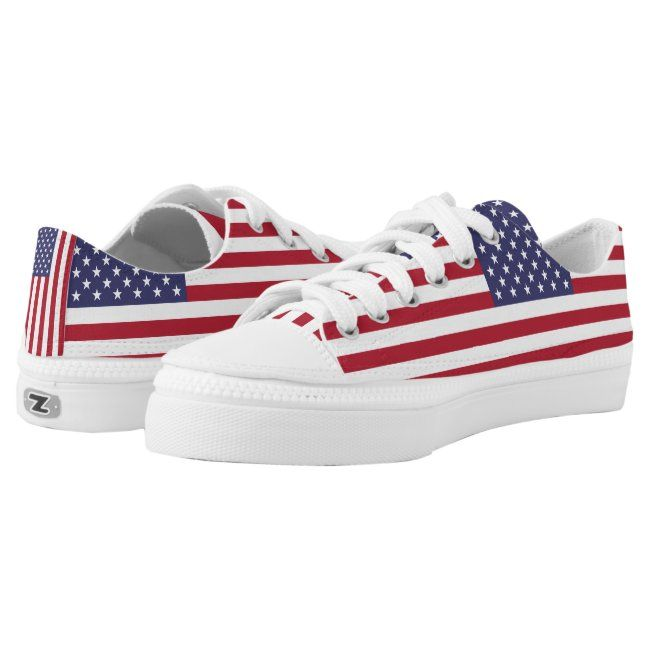 American Flag Usa Independence Patriotic Low Top Sneakers In 2020 Top Sneakers Patriotic Tops Sneakers