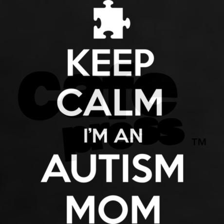 """Keep Calm I'm an Autism Mom - Support Autism Awareness - April is Autism Awareness Month. Through April 30, 2014, CafePress is donating 10% of final profits for all products sold through the Marketplace tagged with """"AUTISM2014"""" to the Autism charities. Charities will be Autism Speaks and the Autistic Self Advocacy Network."""