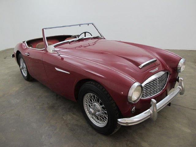 1959 Austin-Healey 100-6 – Convertible Sports Car. This original black plate California car comes in maroon with brown interior and is equipped with wire wheels. It is an excellent candidate for restoration. If you have any additional questions Please call 310-975-0272 or email with any questions! We also welcome all international buyers. We can help with shipping quotes and arrangements.