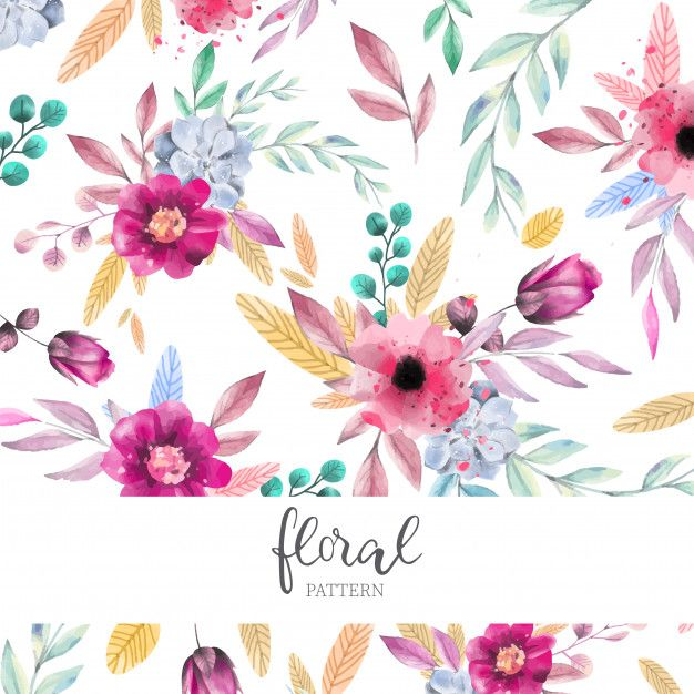 Download Watercolor Floral Pattern For Free In 2020 Floral
