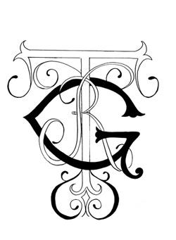 I love custom monograms!
