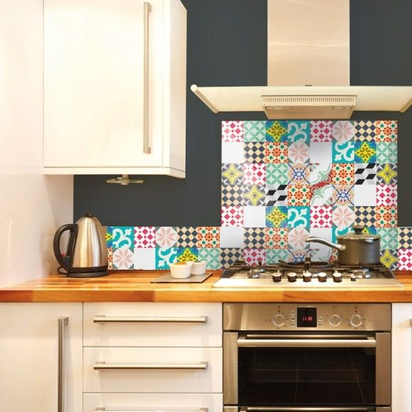 les 10 meilleures id es de la cat gorie cr dence adh sive cuisine sur pinterest. Black Bedroom Furniture Sets. Home Design Ideas