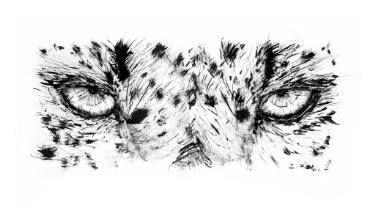 "Saatchi Art Artist David Rabie; Drawing, ""Fierce Leopard Eyes"" #art"