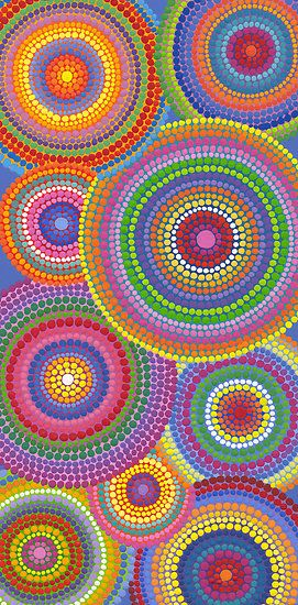 Dot circles pointillism
