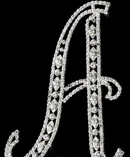 Custom Wedding Cake Topper Silver Personalized Initial