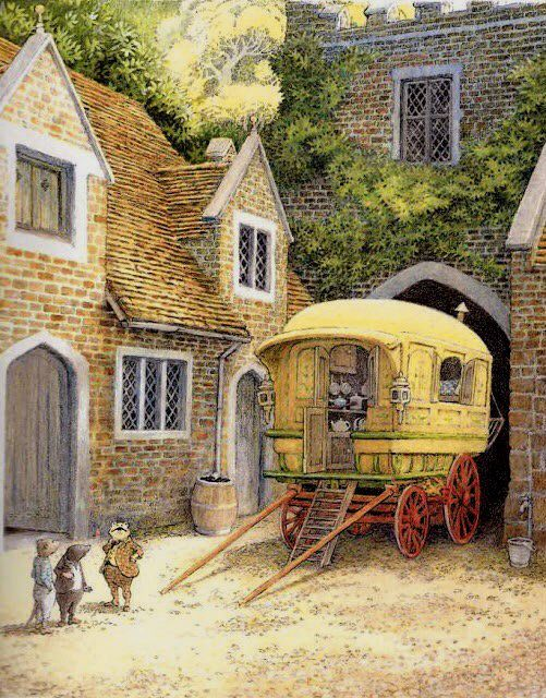 From The Wind in the Willows by Kenneth Grahame illustrated by Inga Moore