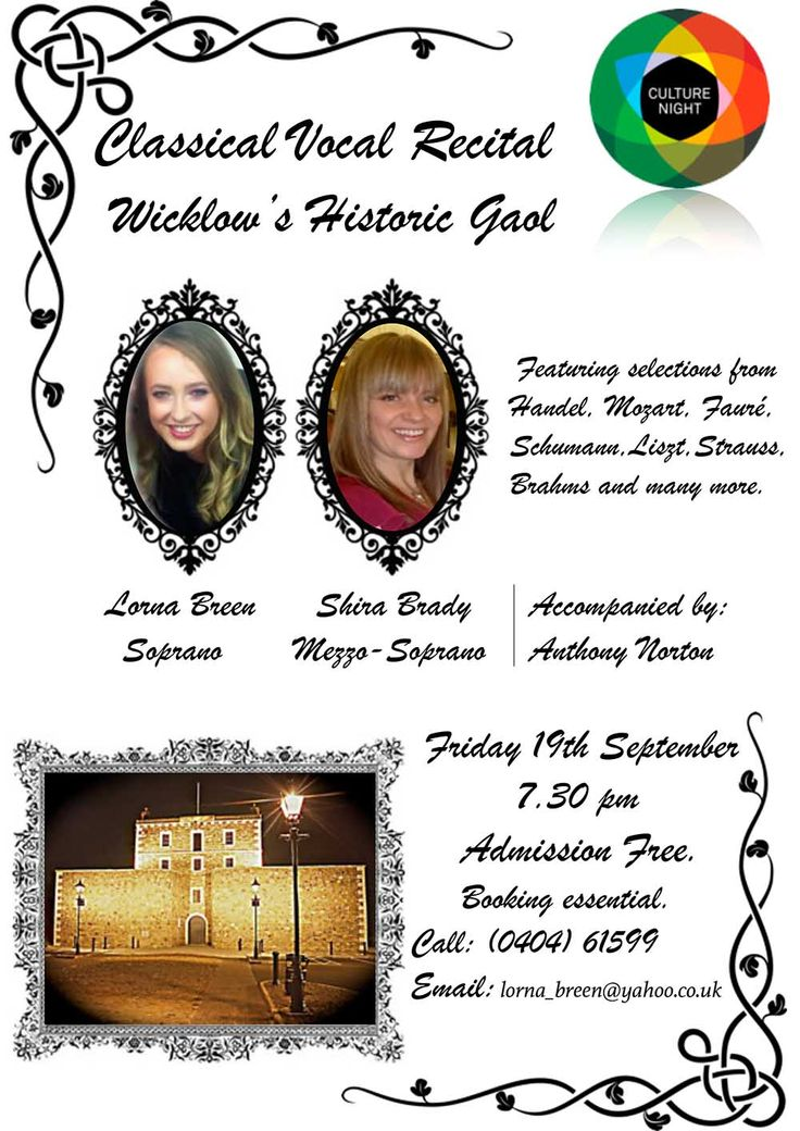 Classical vocal recital at Wicklow's Historical Gaol