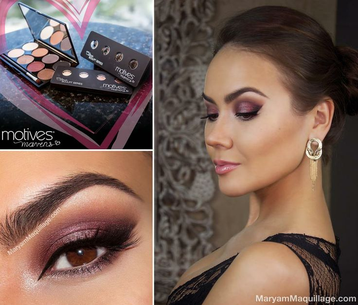 dusty rose smokey eye look by maryam maquillage get the look using motives mavens element. Black Bedroom Furniture Sets. Home Design Ideas