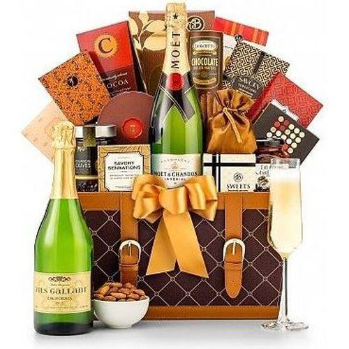Champagne Gift Basket | Groomsmen Gifts For Him | Groomsman Gift Ideas For Men