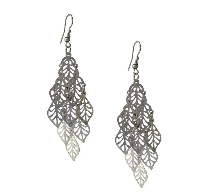 silver chandelier dangle earrings