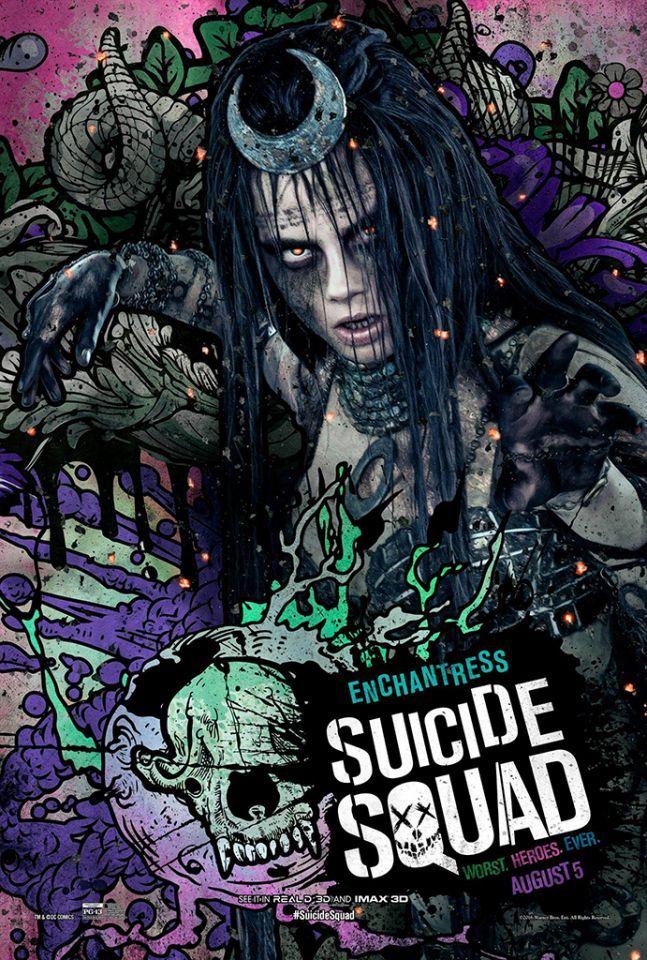 Suicide Squad posters : Cara Delevingne est Enchantress
