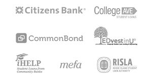 Citizens Bank, College Ave, CommonBond, iHelp, Rhode Island Student Loan Authority, MEFA and EDvestinU