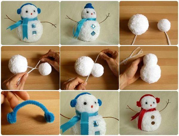 Bonhomme de neige DIY