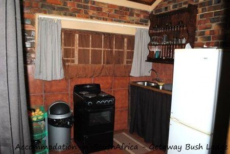 Kitchen at Getaway Bush Self Catering House. Marloth Park accommodation.