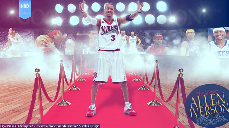Wallpaper made for Allen Iverson retirement, full size at - http://www.basketwallpapers.com/USA/Allen-Iverson/ :)