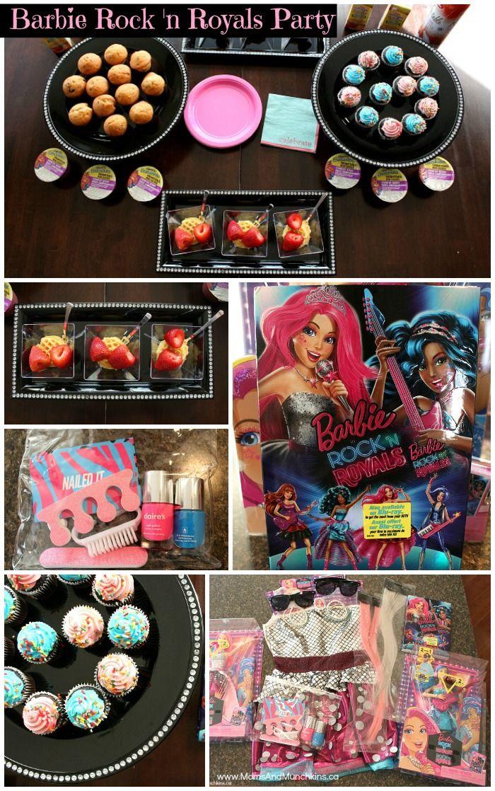 Barbie Rock 'n Royals Party Ideas: activities, snacks & movie! #RockNRoyals