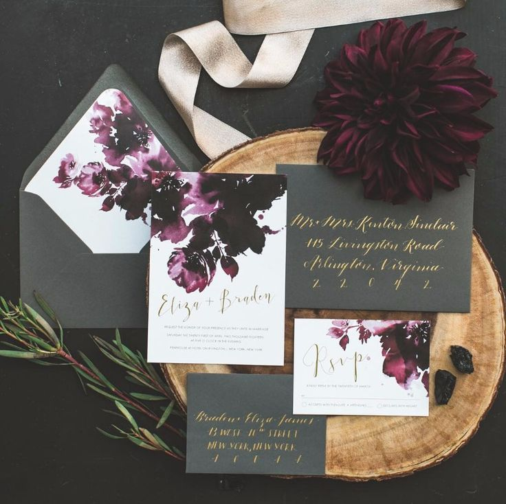 OneSuiteDay offers custom wedding invitation suites as well as all matching stationary items for your wedding day! See more here: https://www.etsy.com/shop/onesuiteday