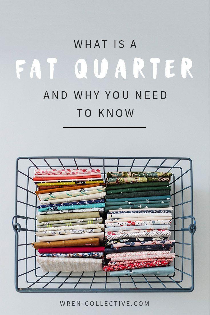 How Big Is A Fat Quarter : quarter, Sewing, Projects