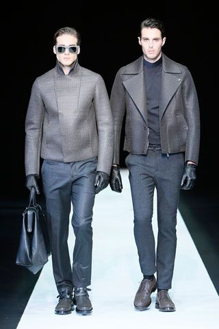 Emporio Armani Menswear Fall 2013 http://www.focusonstyle.com/fashion-shows/emporio-armani-menswear-fall-2013-fashion-show-photos/ #armani #mfw