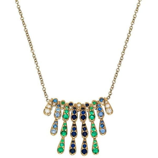 Preowned Sabine Getty White Gold Harlequin Necklace With Emerald,... ($5,912) ❤ liked on Polyvore featuring men's fashion, men's jewelry, men's necklaces, pendant necklaces, white, mens diamond necklace, mens diamond pendant necklace, mens emerald necklace and mens white gold necklace