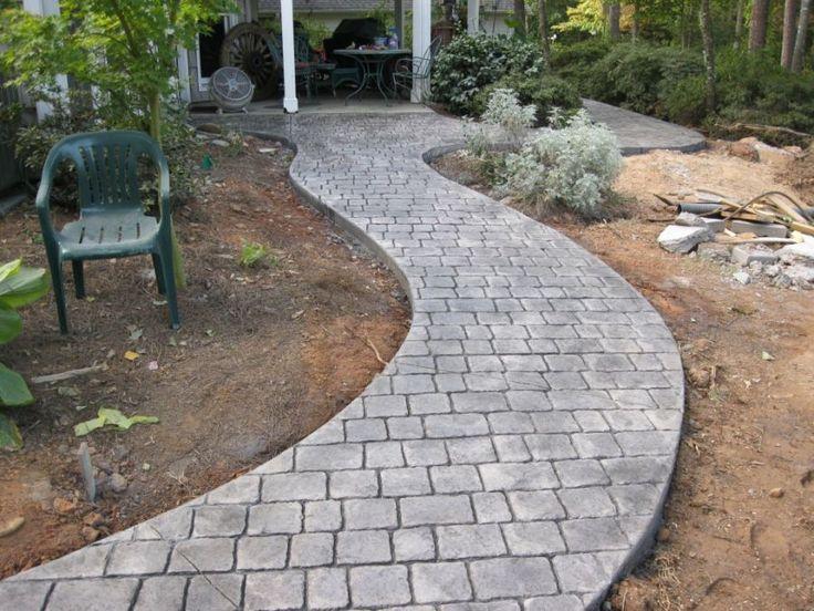 Stamped Concrete Walkway Garden Paths Pinterest