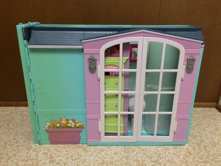 2007 Barbie Doll My House Playset Fold Up Dollhouse