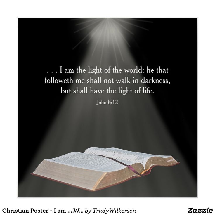 Christian Poster - I am ....World -Bible Verse