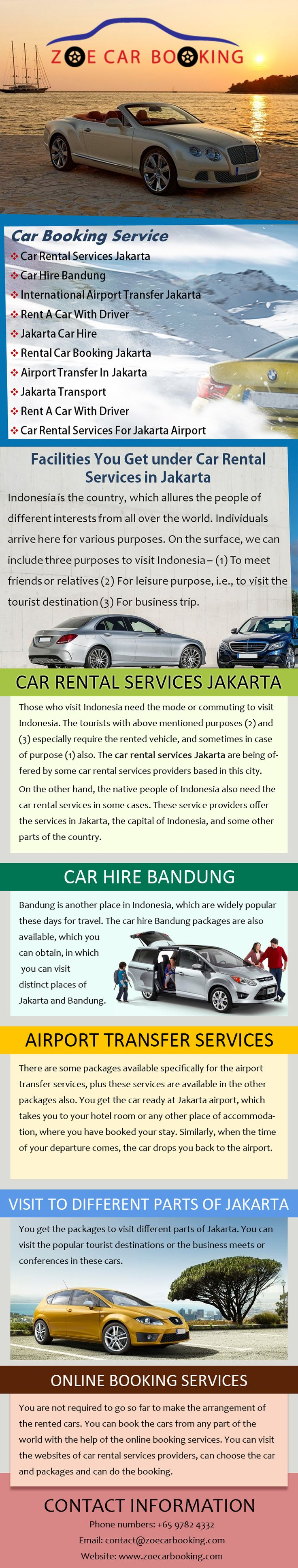 Find the best car rental services jakarta are zoe car booking which are provide services