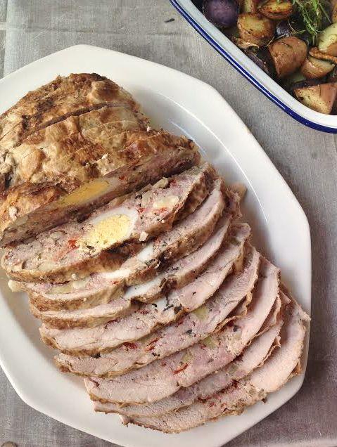 ¡Marchando un perfecto pollo relleno, fácil y rápido de cocinar, perfecto para estas fiestas! ;)
