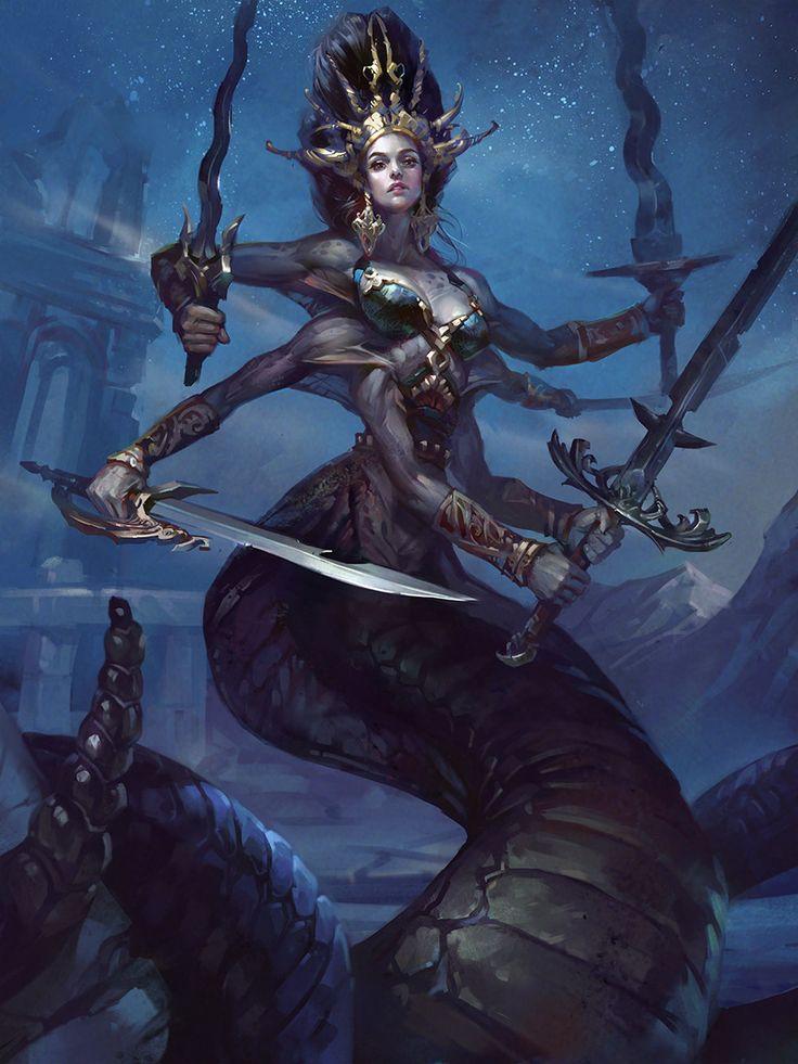 Naga Queen, Valeria Styajkina on ArtStation at https://www.artstation.com/artwork/LBLD0?utm_campaign=digest&utm_medium=email&utm_source=email_digest_mailer