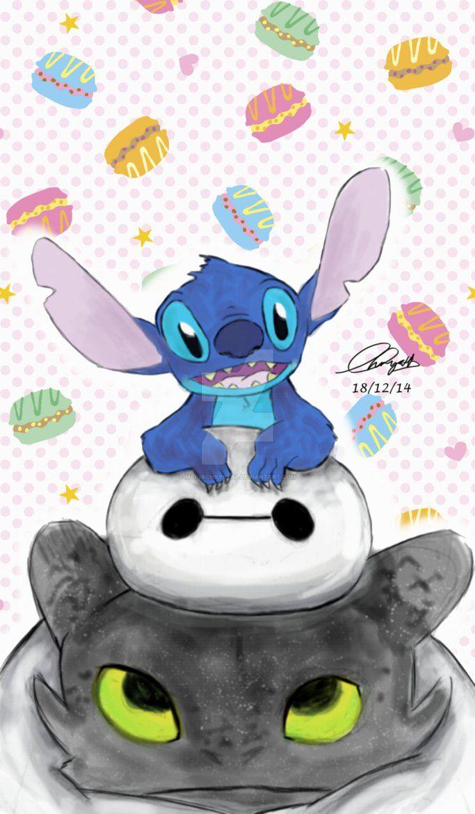 Stitch x Baymax x Toothless by MariaChrystal