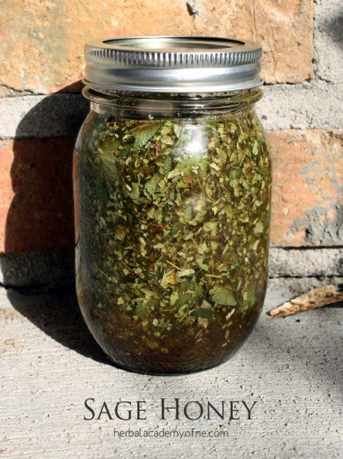 One of my favorite remedies for scratchy throat caused by sinus discharge and coughing is Sage Honey. Just a tablespoon of infused honey works like magic!