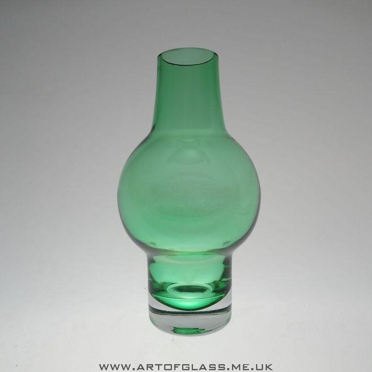Riihimaki green glass vase.