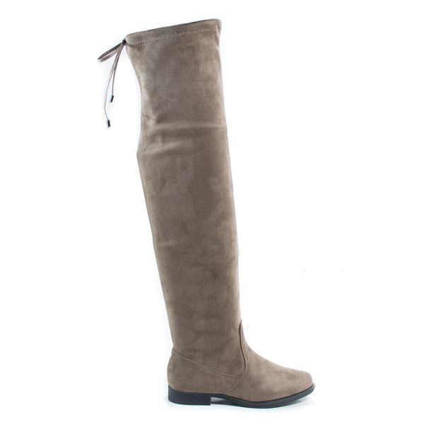 Vista1 Over The Knee Back Lace Flat Boots