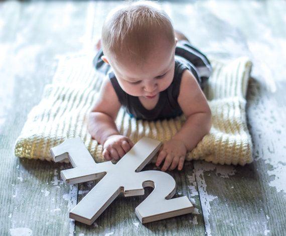 Half birthday baby photo prop – half sign – 1/2 year old!