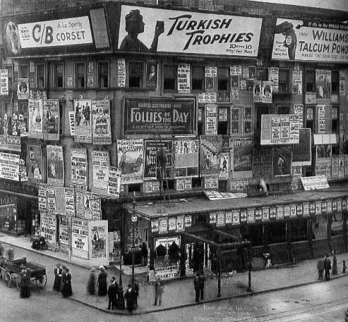 Times Square, 1909: Time Squares, York Cities, Times Square, Circa 1900, Squares Billboard, New York, Photo, Squares 1909, Vintage Image