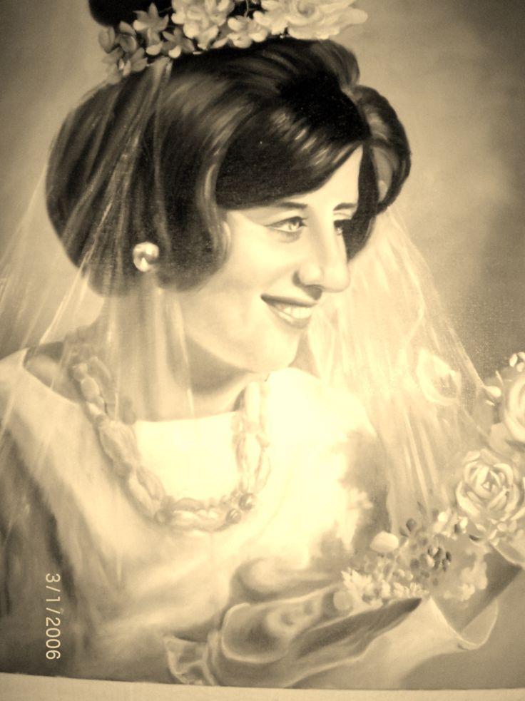 Pintura em tela Linda Eliza de Alacir Balbi
