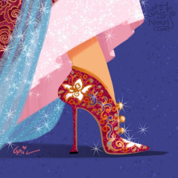 It's not hard to understand the reason why the artists decided to drop all of  Manolo Blahnik's colorful touch on Mulan's hills.