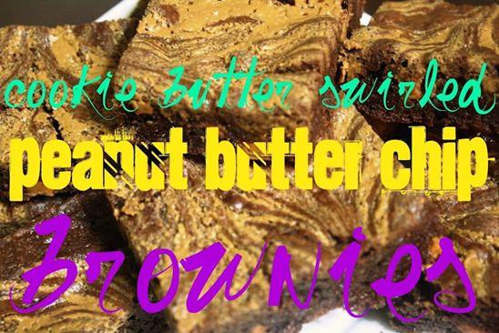 cookie butter brownies!Cookies Butter, Butter Peanut, W Tj S Cookies, Peanut Butter Chips, Swirls Peanut