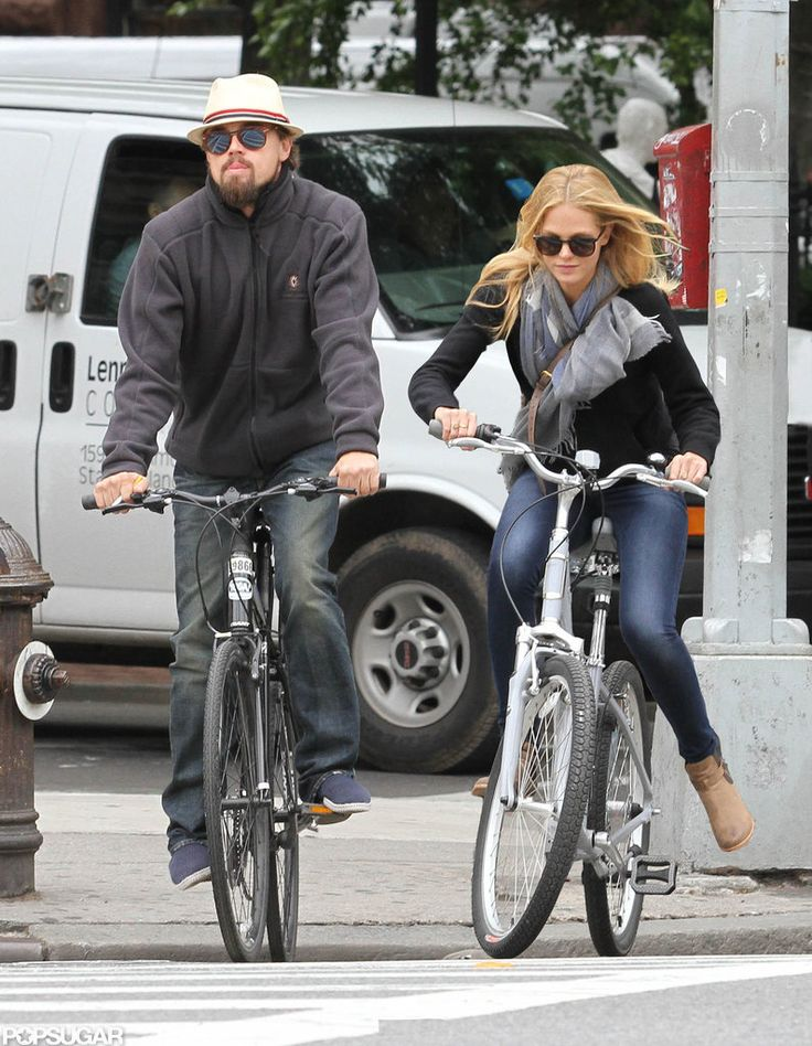 Think he has a type? Leonardo DiCaprio and girlfriend Erin Heatherton biked around NOLA together.