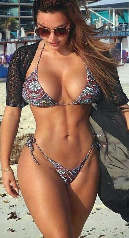 young hot fitness girl model
